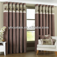 brown blackout curtain drapes panel bipartition eyelet curtain