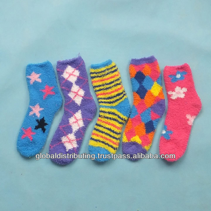 Thick Microfiber Ladies Socks Stock Lot,131109