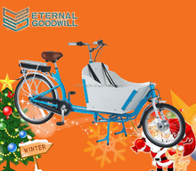 2016 cargo electric bike adult tricycle 2 wheel cargo bike electric / bike bicycle / bakfiets trike for UB9015E