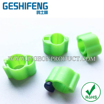 2015 hot sale plastic open can put chips rings for racing pigeon /Electronic chip ring
