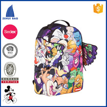 High Quality Supplier Sublimated 600D Polyester Wholesale Children School Bag Backpack
