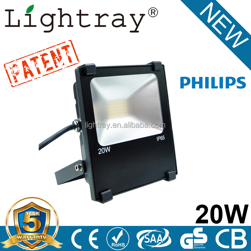 Tunnel EMC LVD 20W LED flood light with 5years warranty