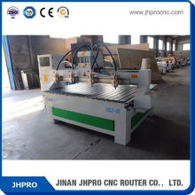 Good Quality Cheapest JH-1812 multihead wood cnc router prices / 3d wood cutting cnc machine
