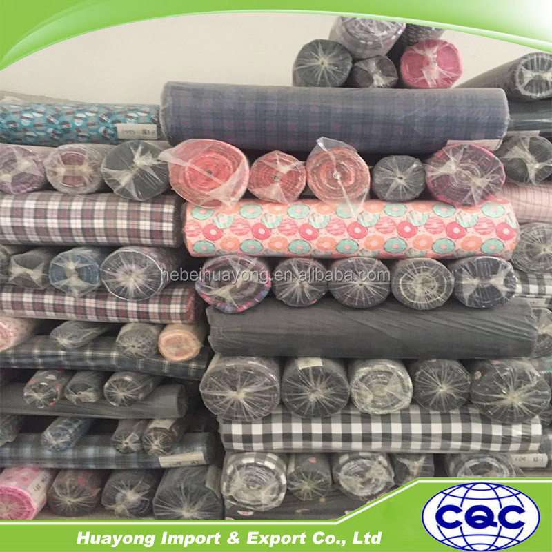 leftover stock 100% cotton check and printed Flannel fabric