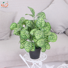 artificial peacock winter leaves bonsai potted table plants