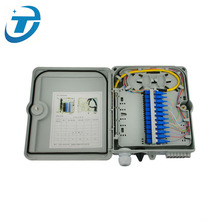 FTTH Indoor Outdoor Wall Mount 4 8 12 16 24 48 Core Fiber Optic Termination Box, Telecom Fiber Cable Distribution Box IP65