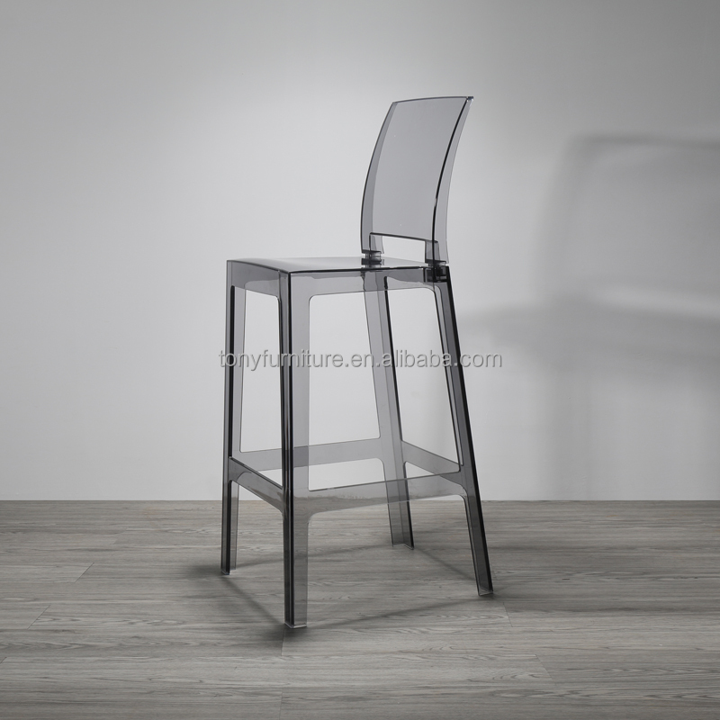 Modern plastic chair transparent