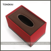 High quality customized leather tissue box fashionable tissue cover case