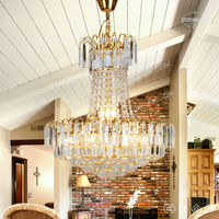 Antique gold crystal chandelier for bedroom ETL800073