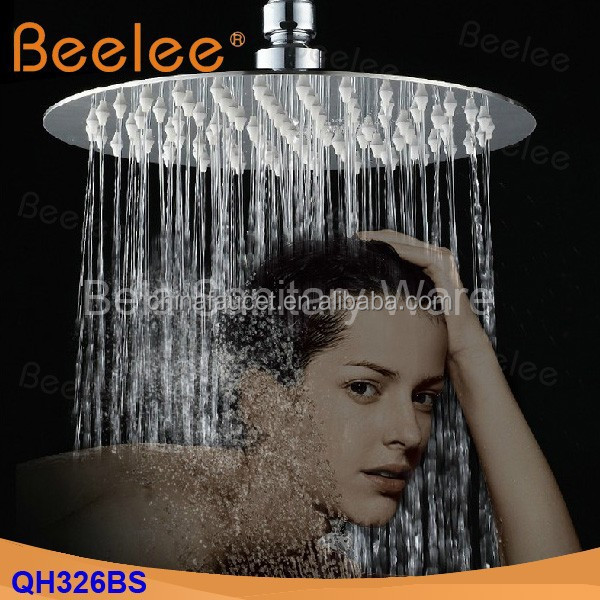 "Round 12"" Super-thin Stainless Steel Wall Mounted Shower Head"