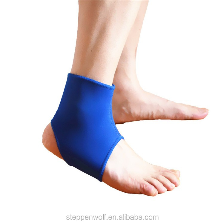 Breathable elastic neoprene ankle support brace