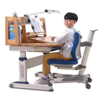 Ergonomics study table and chair for children writing reading drawing