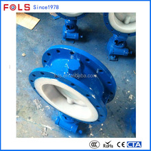 industrial manual opeated double flange fire protection butterfly valve