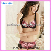 Pink leopard printed bra hot ladies panty set