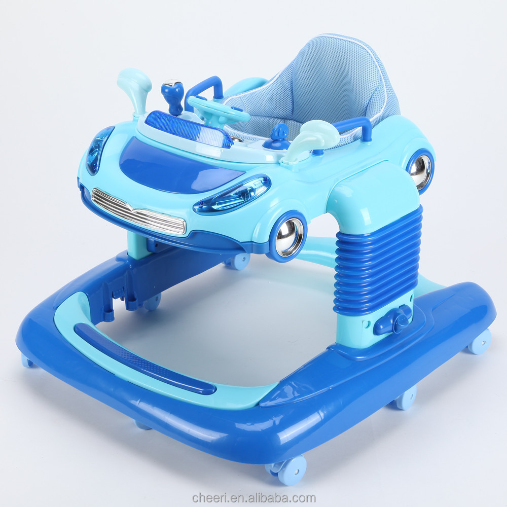 hot selling car shape sound lifelike design good baby loves inflatable rings baby walker