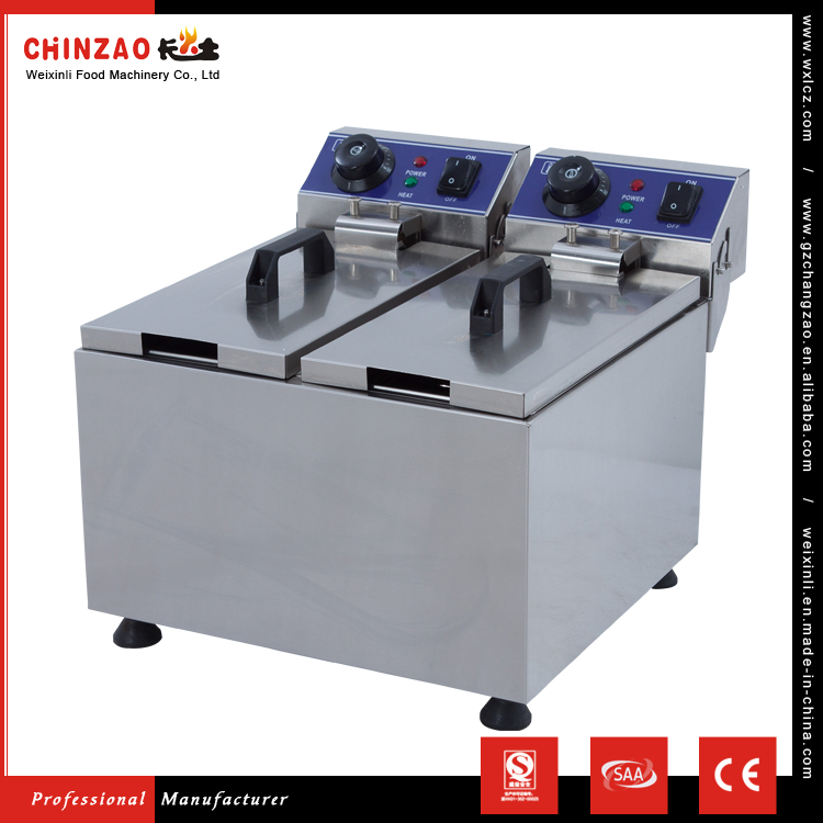 CHINZAO Alibaba China Manufacture Stainless Steel Churro Machine And Electric Fryer For Snacks