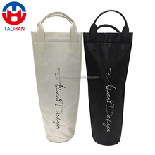 custom promotional polyester single red wine bottle cooler bag