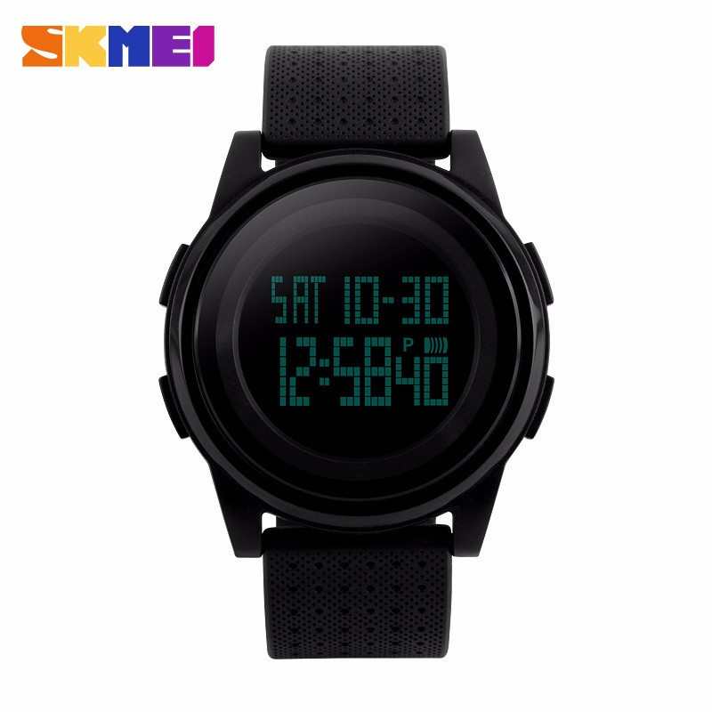 sk 1206 new men outdoor electronic lcd watch 50m waterproof sports 5 colors jelly thin silicone strap women fashion led watch