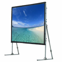 Fast fold front and rear projection screen