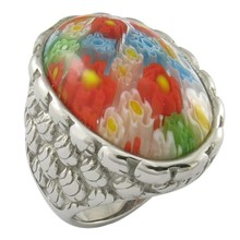 charm stainless steel 316L gem stone jewellery murano ring