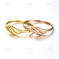 KZCZ023 Jewelry Gold Models Brass Zircon Bangle