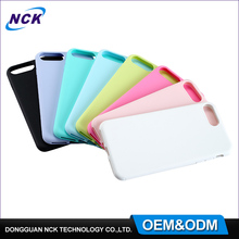 MOQ=100pcs free sample custom fashion color tpu slim phone case cover for iphone6 7