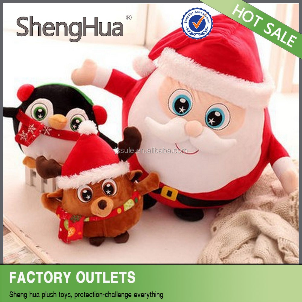 Hot Sell Christmas decoration santa claus dolls lovely small christmas plush toys made in yangzhou
