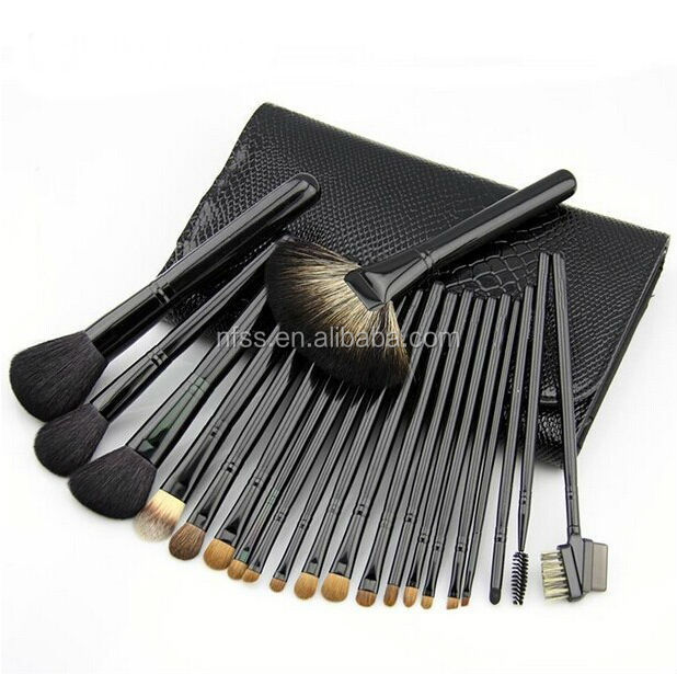 New 21pcs Natural Hair Makeup Brush , Natural Hair Makeup Brush Set ,Free Sample Make Up Brush With Makeup Roll