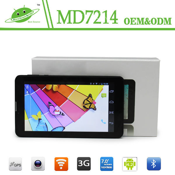 IPS 7inch 1024*600 RAM 1G ROM 16G Android 4.4 dual core MTK8312 wifi 3G bluetooth GPS firmware android 4.0 tablet