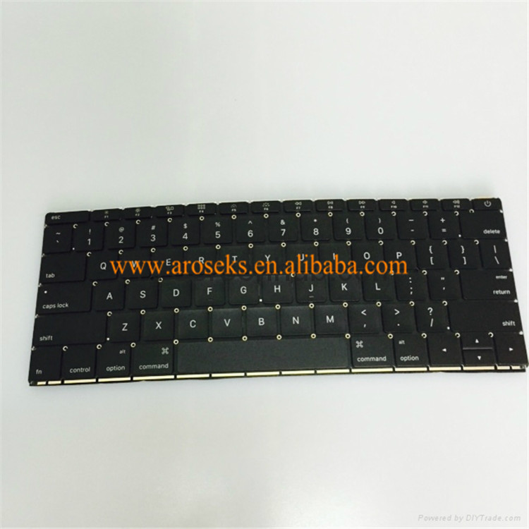 Original brand new laptop black clavier A1534 US layout palmrest for macbook new keyboard