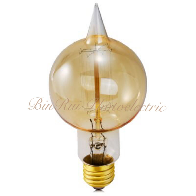 Special design e27 40w cone tungsten filament edison light bulb buy edison light bulb tungsten Tungsten light bulbs