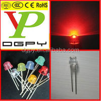 Lowest price Through hole red 4.8mm straw hat led Diode