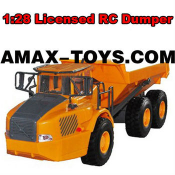 LC-2303 rc engineering truck 1:28 Emulational licensed remote control dumper with lifelike sounds