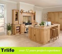 Trlife ES-06 cherry wood kitchen cabinet with wellmax drawer basket/aluminum profile hardware near foshan