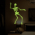 Halloween skeleton Glow in the Dark wall sticker DIY home decor haunted house Luminous wall decal