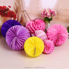 Heart Shape Tissue Paper Honeycomb Balls For Wedding Decoration