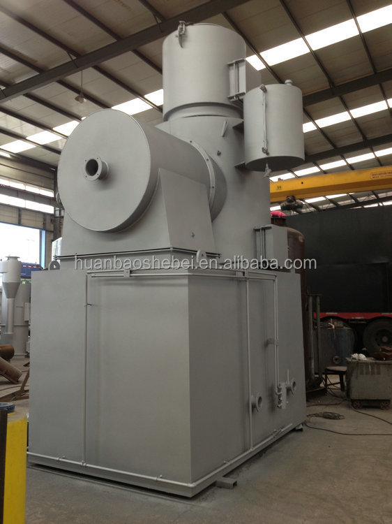 150kgs oily waste incinerator, solid waste incinerator, 3D video guide