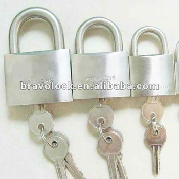 heavy duty 304 stainless steel padlock