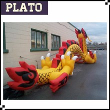 Colorful inflatable dragon for decoration/cheap inflatable long dragon animal