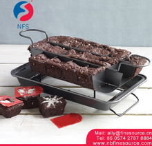 4 Pieces Brownie Square Sectioned Carbon Steel Bakeware Non-Stick Divided Baking Pan