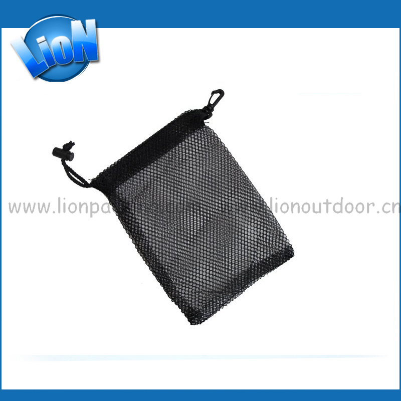 Black Small Drawstring Net Mesh Gift Packaging Storage Bag