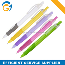 Advertising Logo Custom Colorful Ball Point Pen with Rubber Grip