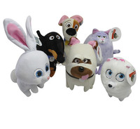 Soft stuffed Plush animal toys cut dog rabbit hot sale the secret life of pets Secret Life of Pets spotted dog Max Duke Snowball