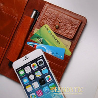 luxury wallet case with stylus pen holder for iphone 6 2015 custom LOGO