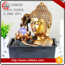 Indoor tabletop decorative big buddha water fountain