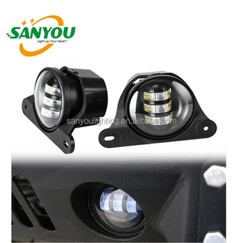 2017 hot sale led fog light for jeep wrngler 12/24V 30W jeep led fog lamp