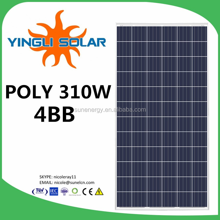 solar panel 230v yingli brand 310W by imported solar panel manufacturing machines
