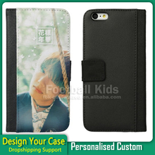 For iPhone 6, Wholesale Wallet PU Leather Cell Phone Case 2D Sublimation Cell Phone Cases For iPhone 6 Custom Design