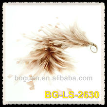 Beige Feather Hackle & Stripped Coque Mount