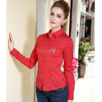2015 Fashion New Design Beautiful Lady Top and Blouse For Office Uniform
